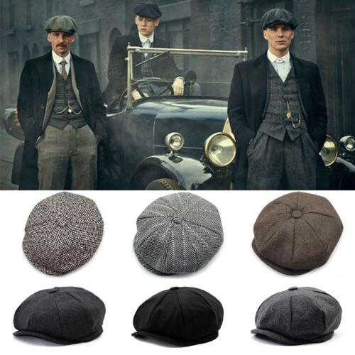 Mens Baker Boy Hat Peaky Cabbie Newsboy Gatsby Country Herringbone Flat Cap  Hats 3 3 of 12 ... 441c5608c13