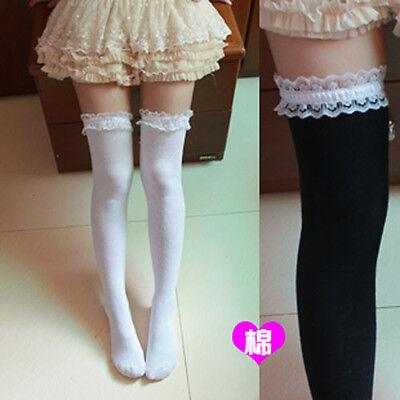 ed34dc06618 ... Women Girl Cute Knit Lace Lolita Stocking Thighhigh Sock Cosplay Dance 2
