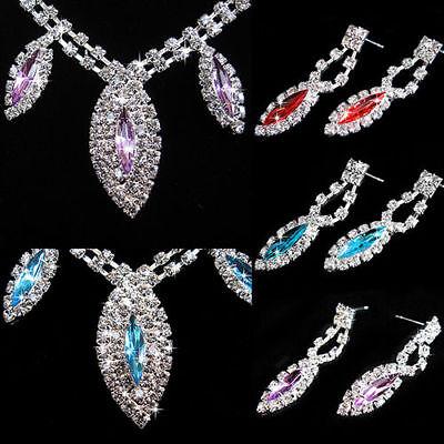 758b322691316 ... Parure bijoux Strass turquoise collier boucle d'oreille mariage  cérémonie soirée 4