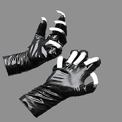 Gummi Latex Rubber Handschuhe mit Fingernageltips Größenauswahl schwarz oder rot