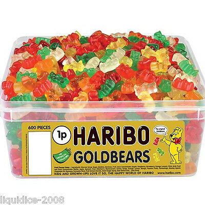 1 X Full Tub Haribo Sweets Candy Children's School Bags Treat Sweet Gift Party 11