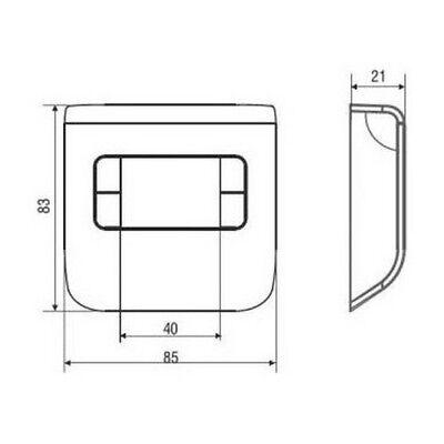 3S Termostato Ambiente Digitale Ch110 Bianco Fantini Cosmi - Temperatura Caldaia 2