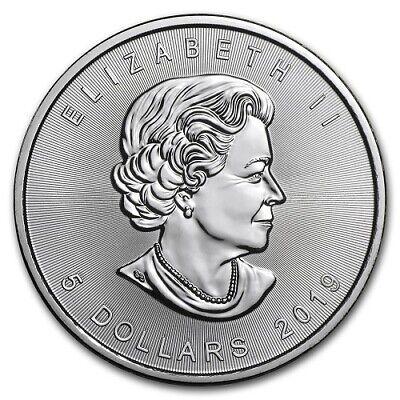 2019 Canada 1 oz Silver Maple Leaf Solid silver BU $5 coin .9999 fine silver 2