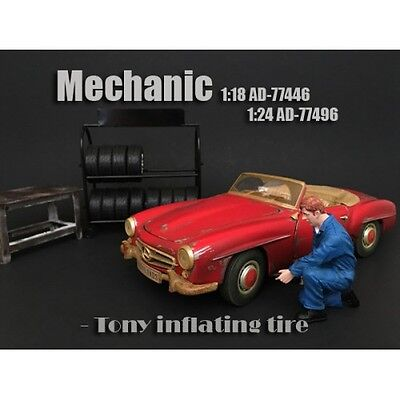 1/18 American Diorama Mechanic Set #3- FOUR figures for your garage/shop