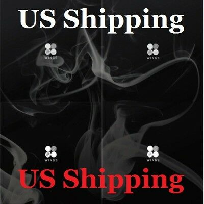 US SHIPPING BTS-[Wings}2nd Album Random CD+96p PhotoBook+1p PhotoCard+Store Gift 2