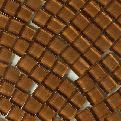 Square Glass Mosaic Tiles 90 Pieces 15mm Cold Spray Sand Gold Silver Small Craft