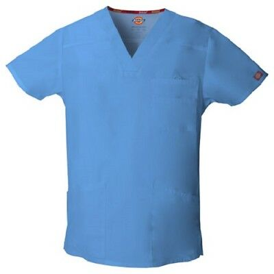 Dickies Scrub Top 81906 Mens EDS V-Neck Scrub Top Medical ~NEW~ Free Shipping