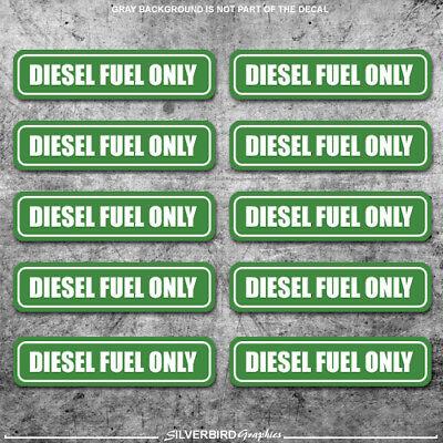 10x Diesel Fuel Only sticker door  gasoline gas decal / truck / label tank vinyl 2