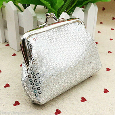 6pcs Sequin kiss lock Clutch Wallet Coin Change Small Case Bag Purse Pouch Lots 3