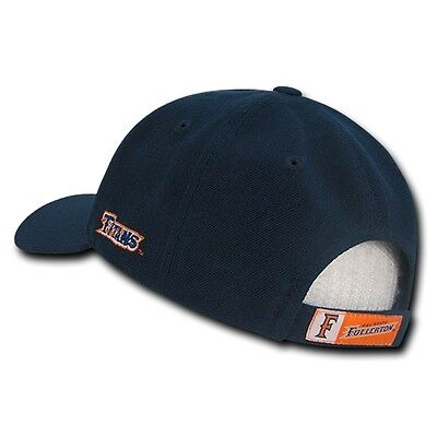378d93401 NAVY BLUE CAL State Fullerton Titans University CSUF NCAA Baseball Ball Cap  Hat