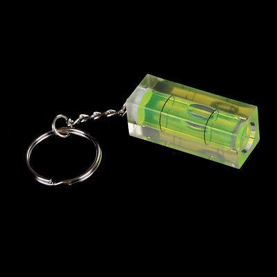 Mini burbuja nivel llavero llave herramienta DIY anillo gadget novedad regalo