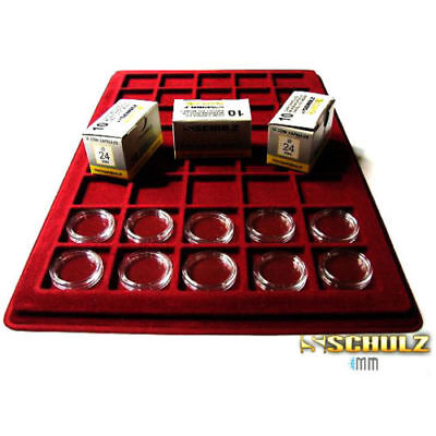 (ProSchulz) Coin Capsules ALL INTERNAL SIZES 14 mm to 42mm  x 10, 30, 50, 100pcs 3