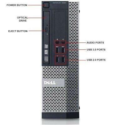 Dell Optiplex 9020 SFF i5-4570 QC 3.20Ghz 8GB Ram 128Gb SSD Win 10 Desktop PC 2
