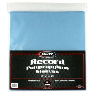 33 RPM 1/3 Vinyl Record Sleeves Protectors Plastic Poly Holders 2 Mil 100 BCW 2
