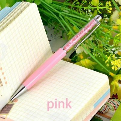 New Diamond Crystal Pen Glittering Ballpoint Stylus Touch Stationery Gift 2 IN 1 10