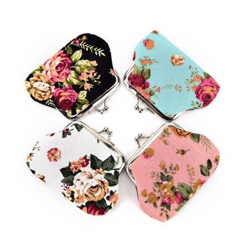 Blumen-Druck-Dame-Mappen-Beutel-Münzen-Beutel Schlüsselgutschrift 0U