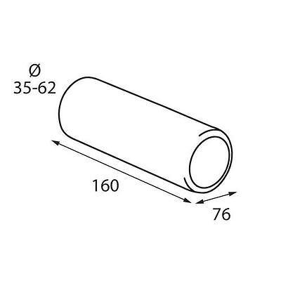 Auspuff Blende Endrohr 76 mm rund Edelstahl Sportauspuff Optik Anschluss 35-62mm
