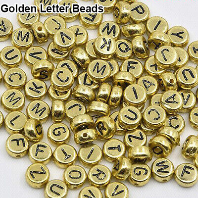 100Pcs Spacer Acrylic Beads Cube Alphabet Letter Bracelet Jewelry Making DIY HOT 9