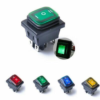5x 12V 20A KFZ Wasserdicht IP68 Wippschalter Wippenschalter LED beleuchtet Gelb