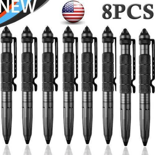 "4/8Pcs 6""Aluminum Tactical Glass Breaker Writing Pens Outdoor Survival Tool Pen 2"