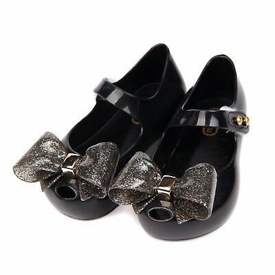 New Mini Melissa Minimemon Butterfly Bow Sandals Kids Toddler US Size 6-11