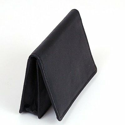 Black genuine leather expandable credit card id business card holder 3 of 5 black genuine leather expandable credit card id business card holder wallet case colourmoves