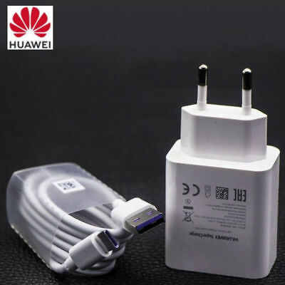 Original Huawei SuperCharge Schnell Ladegerät Typ C USB Ladekabel P10 P20 Pro 6