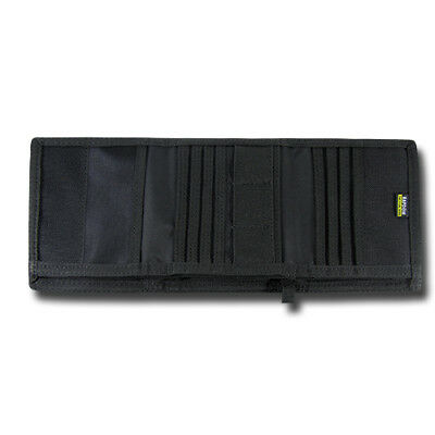 RAPDOM Men/'s Tri-Fold Wallet Tactical Non Stick ID Window 18 Compartment//Pocket