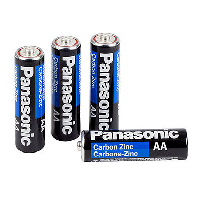 48X PANASONIC AA Batteries Super Heavy Duty Carbon Zinc Fresh New