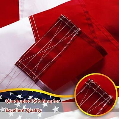 8'x12' ft American Flag US USA | EMBROIDERED Stars, Sewn Stripes, Brass Grommets 3