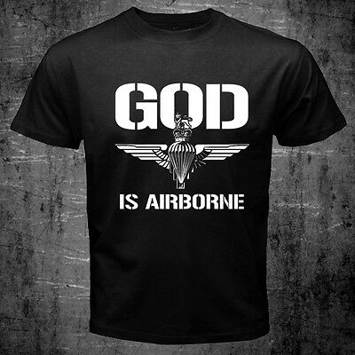 all sizes available ARMY FORCES God is Airborne Paras Regiment T-shirt