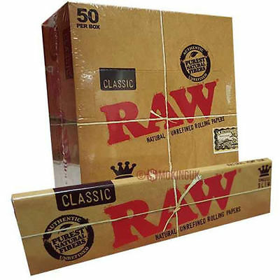 Raw Rizla Classic King Size Slim 110Mm Rolling Paper With Roach Filter Tips Uk 5