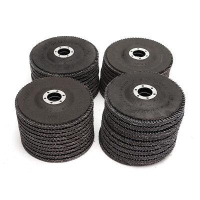 Angle Grinder Flap Sanding Disc 5'' 125mm 40-120 Grit Grinding Wheels 10/40Pcs 7