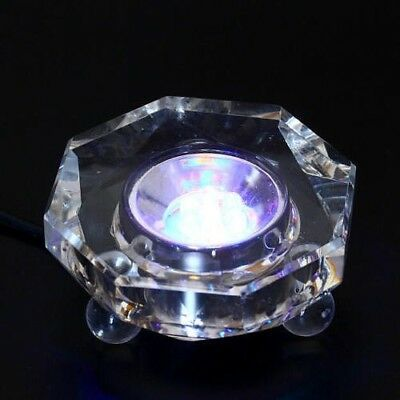7 LED Colored lights Illuminated Crystal Display Stand Base With Charger