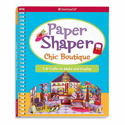 6 AMERICAN GIRL Paper Shaper Chic Boutique Book 3-D Craft Birthday Party Favor