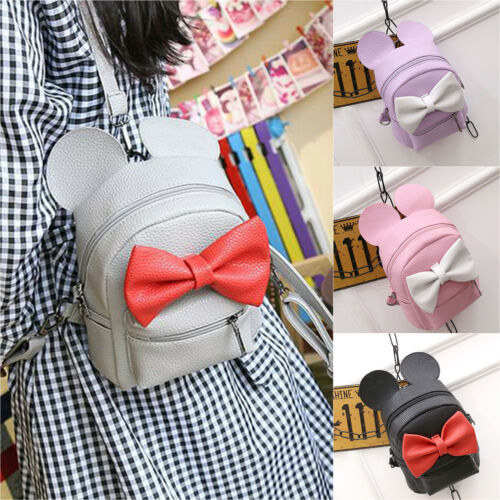 Fashion Womens Girls Canvas School Backpack Shoulder Bag Travel Rucksack