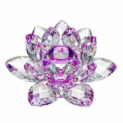 Large Purple Crystal Lotus Flower Ornament Large Crystocraft Home Decor 4