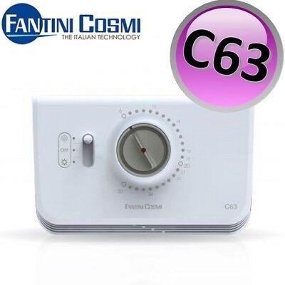 3S Nuovo Termostato Ambiente Elettronico C63 Fantini Cosmi A Batteria Caloriferi 2