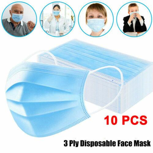 50x Mascheraaa viso medica monouso 3 strati con polvere dentale chirurgica utile 10