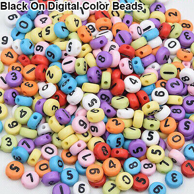 100Pcs Spacer Acrylic Beads Cube Alphabet Letter Bracelet Jewelry Making DIY HOT 4