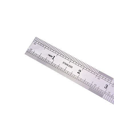1PC Metric Rule Precision Double Sided Measuring Tool  15cm Metal Ruler HV 6