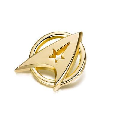 US! Star Trek Gold Plated Starfleet Communicator Brooch Badge Lapel Pin Fan Gift 6