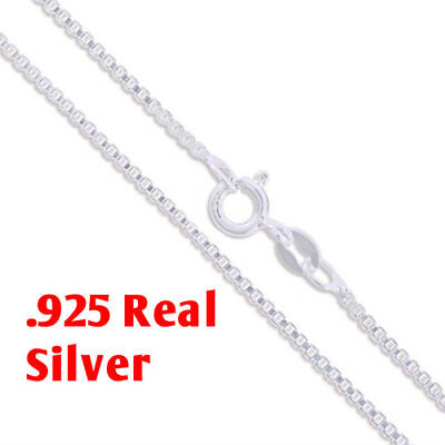 REAL Classic 925 Sterling Silver Chain Necklace SOLID SILVER 925 Jewelry Italy 6