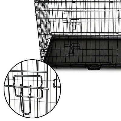 Collapsible Pet Dog Cage Wire Metal Crate Kennel Portable Puppy Cat Rabbit House 2