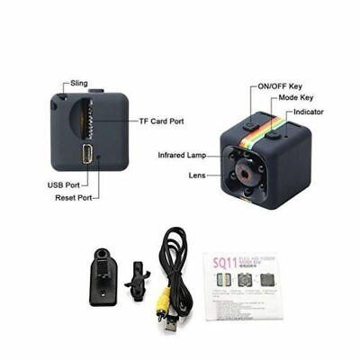 Telecamera Sq11 Sport Full Hd 1080P 2Mp Mini Dv Spy Cam Ir Spia Camera Spiare 3
