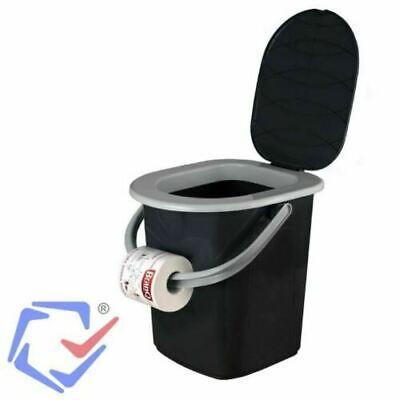 Toilettes Camping Toilette Sèche Portable Seau WC Portatif Voyage 22L BRANQ Neuf 6