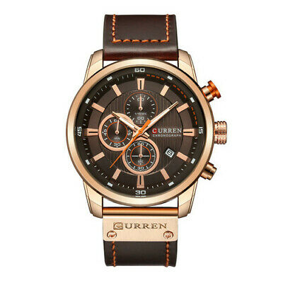 Curren Mens PU Leather Band Strap Wristwatch Sports Military Quartz Watch 8291 6