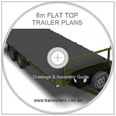 Trailer Plans - 6m FLAT TOP TRAILER PLANS - PLANS ON CD-ROM -Flatbed,Car Trailer 12