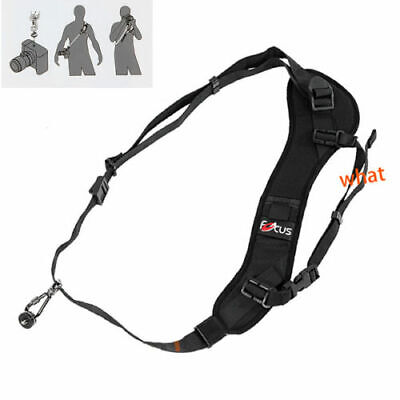 Focus F-1 Quick Rapid Sling Belt Neck Shoulder Strap For DSLR SLR Camera Black 6