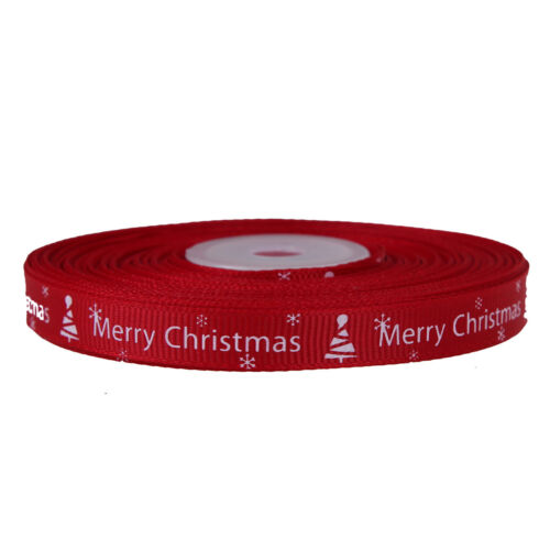 25yards/Roll Satin Ribbon Gift Wrapping Merry Christmas Happy New Year Craft UR 3